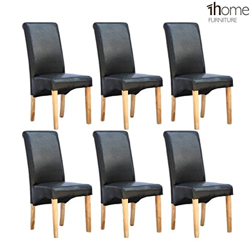 6-x-1home-leather-black-dining-chair-w-oak-finish-wood-legs-roll-top-high-back