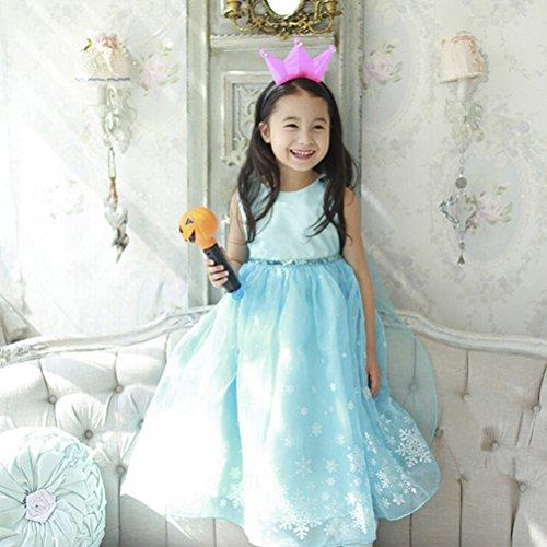 e73840843 Vicloon - Disfraz de Princesa Elsa Capa Disfraces Belle Vestido y Accesorios  para Niñas- Reino de Hielo - para Carnaval