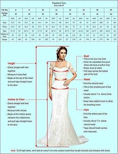 Babyonlinedress Femme Elegant Robe de Soirée/Cocktail/Cérémonie Courte sans Manches Col Cœur Dos Nu avec Appliques en Health Cloth/Coton Bleu Royal