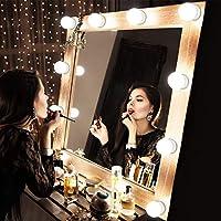 TechSmile Hollywood Style - Juego de luces LED con espejo de vanidad con bombillas regulables, tira de iluminación para el tocador, juego de mesa de tocador, sin espejo (10 bombillas)