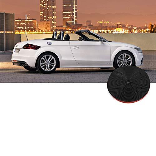 Myhonour Auto-Radnaben-Kanten-Kantenschutz 8M Dauerhafte Auto-Kanten-Kanten-Galvanisieren-Schutz für alles Auto (Schwarz)
