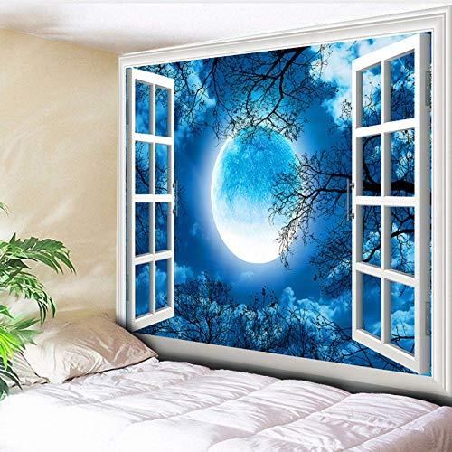 Guokee Tapisserie Halloween Wandbehang Natur Baum Kalt Mondlicht Wand Teppich Decke Strand Werfen Camping Zelt Reisematratzen-200 * 150cm (Werfen Schatten Halloween)