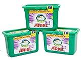 3x Ariel 3 in 1 Pods Colorwaschmittel, 1er Pack (3 x 15 Waschladungen)