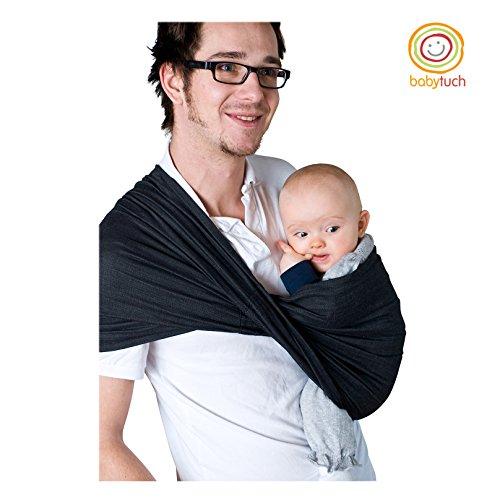 Babytuch - das Tragetuch ohne Knoten (1, Samtschwarz)