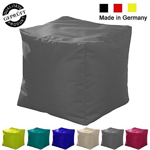 Sitzsack  Sitzkissen  Sitzhocker  Würfel  LazyBag  In- u. Outdoor geeignet  40x40x40cm  grau (anthrazit)