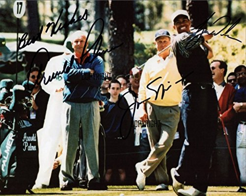 Limited Edition Tiger Woods Jack Nicklaus Arnold Palmer unterzeichnet Foto Autogramm signiertsigniertes