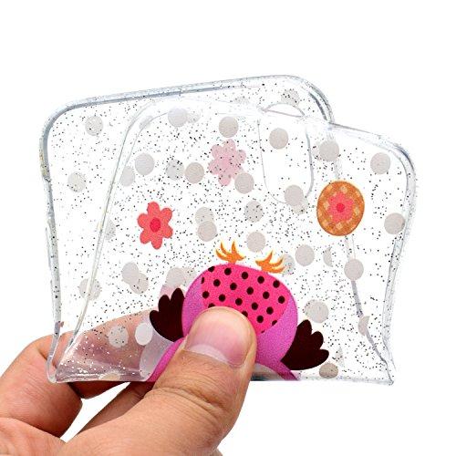 Cover per iPhone X Custodia Silicone , YIGA Piccolo panda Cover Cristallo Trasparente Guscio Silicone Morbido TPU Case Soft Shell Skin Protezione Custodia per Apple iPhone X (5.8) MM51