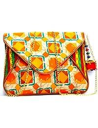 Tunerox Women's Silk And Cotton Slingbag Multi-Colour - B079ZQZDD2