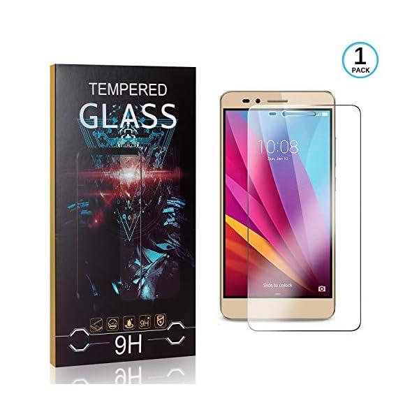 Ramcox Protector de Pantalla para Huawei Honor 5X, Alta Sensible Vidrio Templado Protector de Pantalla Compatible con 3D… 1