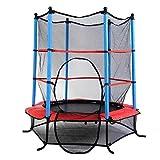Fitness Trampolin Gartentrampolin 140cm mit Sicherheitsnetz Kinder Trampolin Sicherheitsrampolin