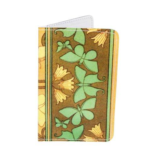 Kartenetui Schmetterling Jugendstil für Visitenkarten, Ausweise und Kreditkarten -