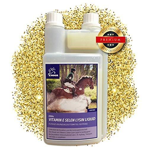 EMMA Vitamin E Selen Lysin fürs Pferd - Ergänzungsfutter I Muskulatur & Stoffwechsel I Kondition I Senioren Kraftfutter 1 L