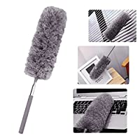 Broadroot Adjustable Stretch Extend Microfiber Duster Dusting Brush(Grey)