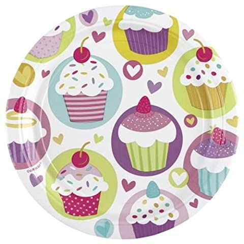 Amscan 23 cm Cupcakes 8 Paper Plates
