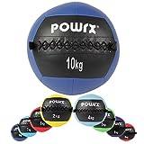 Wall Ball - Médecine Ball - Balle médicale Deluxe / 2 kg - 3 kg - 4 kg - 5 kg - 6 kg - 7 kg - 8 kg - 9 kg - 10 kg / Idéal pour les exercices de remise en forme fonctionnelle, de crossfit et de musculation (10 kg Bleu foncé)