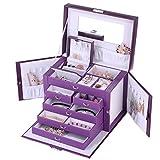 Rowling Boîte à Bijoux Coffret/Présentoir à Bijoux Boîte à Maquillaget et Cosmétique ZG245 (Violet)