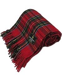 Ingles Buchan - Ingles Buchan - Couverture écossaise - tartan Royal Stewart - laine