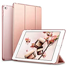 ESR Case for iPad Mini 4, Ultra-slim Lightweight Smart Case with Trifold Stand and Auto Sleep/Wake Function, Microfiber Lining, Translucent Frosted Back Cover for Apple iPad Mini 4, Rose Gold