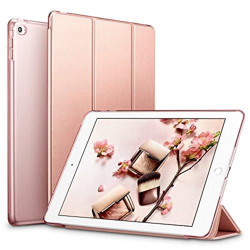 ESR iPad Mini 4 Hülle, Auto aufwachen/Schlaf Funktion Ledertasche mit durchschaubar Rückseite Abdeckung Leichtgewicht Anti-Kratzer Schutzhülle für iPad Mini 4 (Roségold)
