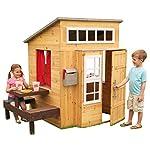 KidKraft 182 Modern Wooden Outdoor Garden Playhouse -  including play kitchen and accessories for Children Kids