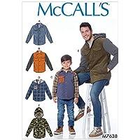 McCalls 7638 Patron de couture pour vestes et sweats à capuche pour garçon (3-4 5-6 7-8)