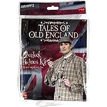 De Smiffy - Sherlock Holmes accesorio del traje ajustado con la pipa y lupa