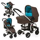 Hauck 142813 Miami 4 Trio Kinderwagen Set inklusive Wanne, Zero Plus Comfort -