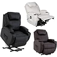 Cavendish electric riser and recliner chair with drink holders - choice of colours (Brown) rise and recline