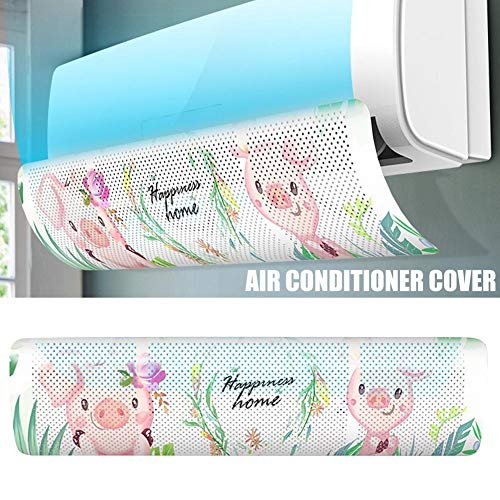 Fall Direct Vent (2 Pcs Retractable Air Conditioner Deflector, Adjustable Anti Direct Blowing Windshield Air Conditioning Baffles, Windproof Wall-Mounted Universal Air-Con Deflectors for Home/Office)