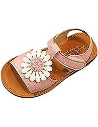 PAOLIAN Verano Zapatos para Niña Princesa Calzado Zapatos de Niñito Antideslizante Suela Blanda Zapatos de Cordones