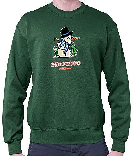(HARIZ Herren Pullover Pixbros Snowbro Xmas Weihnachten Kinder Lustig Liebe Plus Geschenkkarten Dunkel Grün XL)