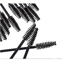 Cdet 50X Pinceles para mascarillas desechables wands eyelash aplicadores para maquillaje kit eye lash brush,Negro