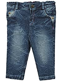Beebay Infant-girl Crush Texture Wash Denim Trouser (Denim Blue )
