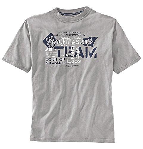 JAN VANDERSTORM Herren T-Shirt DIETHELM in Übergröße bis 6XL - NEU - Grau