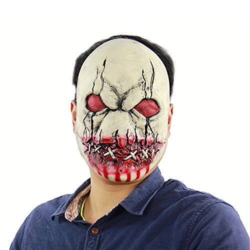 Yxsd Halloween Bloody Zombie Terrorist Latex Maske Scary Spukhaus Room Escapes Kopfbedeckungen