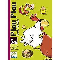 Djeco- Juego de Cartas PIOU, Multicolor (DJ05119)