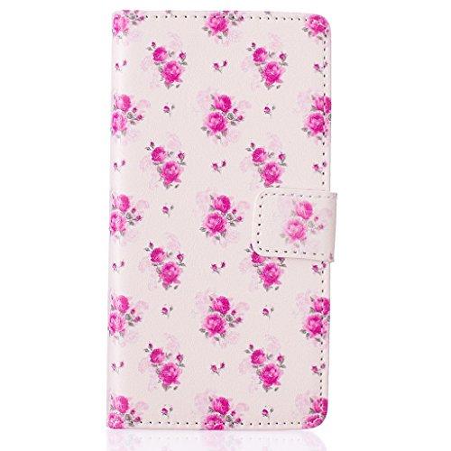 Apple iPhone 5C Case [con protezione schermo libero], nanxi Colorful Nizza Pattern PU portafoglio in pelle con porta carte di credito slot Smart Custodia Folio Ultra Cover Skin Per Cell