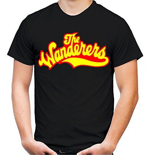 The Wanderers Männer und Herren T-Shirt | Spruch Rockabilly Kult Geschenk | M1 (L, Schwarz)