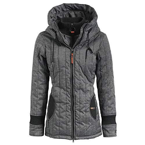 khujo Damen Winterjacke Tweety Prime2 (200,496) 1129JK183 Dark Grey L