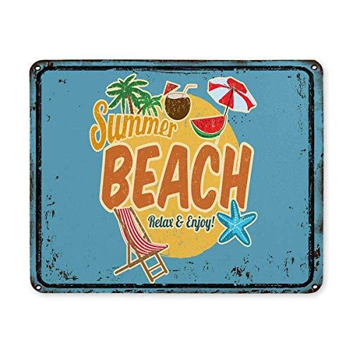 Luancrop Hawaiian Beach Bar Vintage rostigen Metallschild mit Sommer Palm Tree Rechteck rutschfeste Gummi komfortable Computer-Maus-Pad Gaming Mousepad Matte mit Designs für Office Home Frau Mann (Maus-pad-hawaiian)