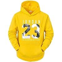 Uomo Donna Basketball Felpa con Cappuccio - Chicago Bulls 23# Jordan Jersey Hooded Pullover Allentato Basketball Felpa…