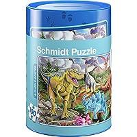 Preisvergleich für Schmidt Spiele 56916 Dinosaurier Puzzles in Spardose, 100 Teile