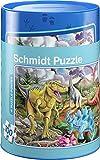Schmidt Spiele 56916 Dinosaurier Puzzles in Spardose, 100 Teile