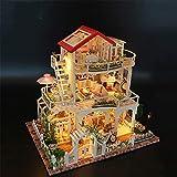 XCXDX Dreistöckiges Gartenhaus, Kreatives Geschenkmodell Spielzeug, DIY Miniaturbausatz, Wohnkultur