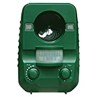 AngLink Cat Repellent Ultrasonic Animal Repeller Solar Battery Operated Motion Activated Outdoor Waterproof Electronic Cat Scarer Repeller Deterrent with Ground Stake