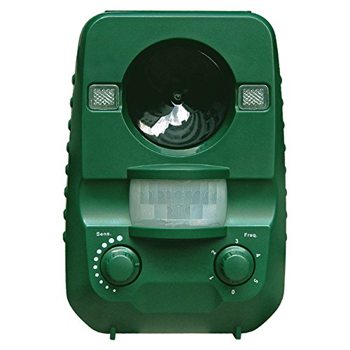 AngLink Cat Repellent Ultrasonic Animal Repeller Solar Battery Operated Motion Activated Outdoor...