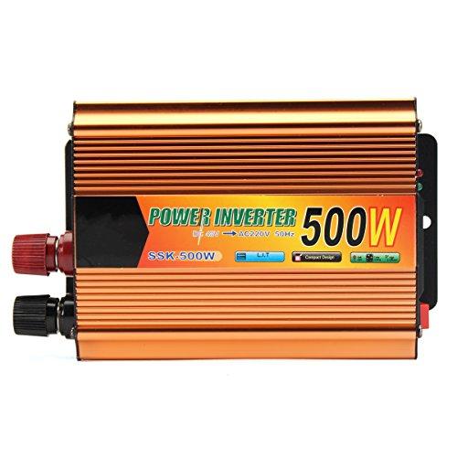 Rishil World 500W WATT Car Truck Boat Power Inverter DC 48V to AC 220V 50Hz Converter Adapter
