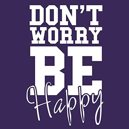 Borsa Tote Dont Worry, Be Happy 42 x 38 cm in viola scuro Dark Purple