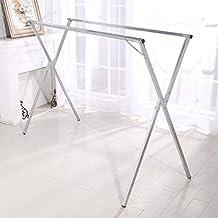 Muebles de cocina High Grade galvanizado X - type plegable tendedero barra horizontal tipo piso doble polo Drying racks son interiores y exteriores, racks para colgar ropa secado RACK retráctil WXP-armarios y armarios cubiertos