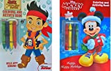 Childrens Coloring Book Gift Set Includes Jake And The Neverland Pirates Coloring & Activity Book With 2 Sticker Sheets Inside, Mickey & Friends Coloring & Activity Book With 2 Sticker Sheets